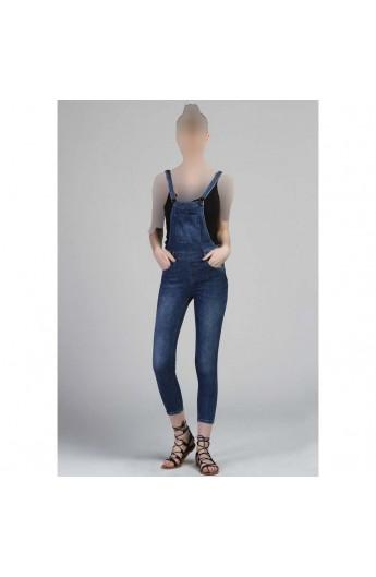 شلوار پیش بندی جین زنانه
