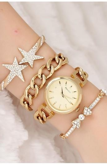 ست ساعت دستبند زنجیری زنانه