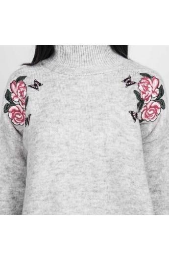 بلوز بافت گلدار زنانه