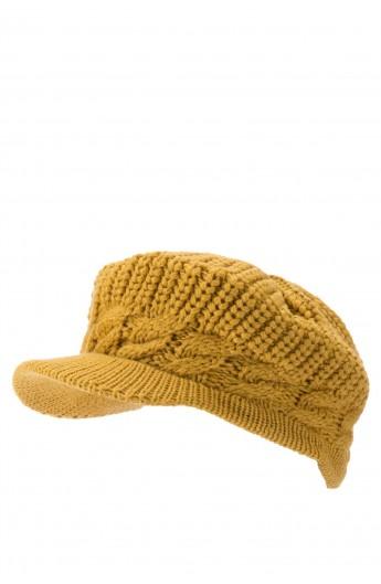 کلاه بافت نقاب دار زنانه