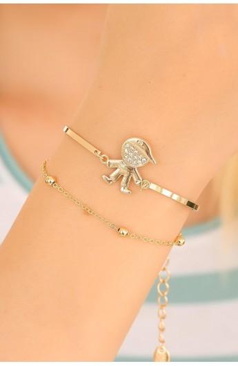 دستبند نگین دار زنانه