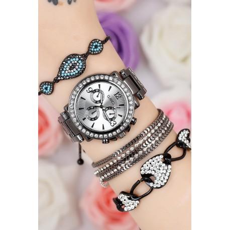ست یاعت دستبند نگین دار زنانه