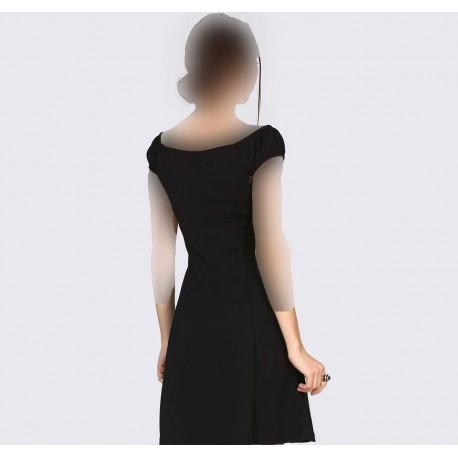 پیراهن مجلسی یقه مدل دار زنانه