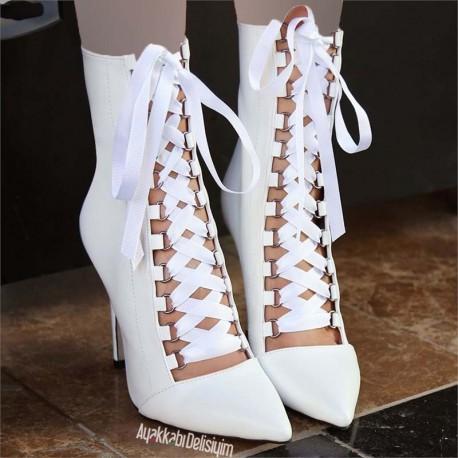 کفش پاشنه دار بنددار زنانه