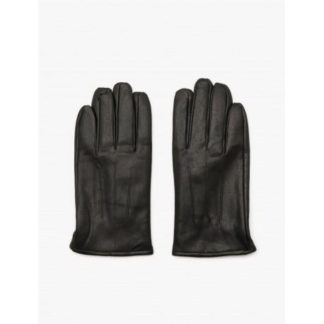 دستکش چرم خط دار مردانه