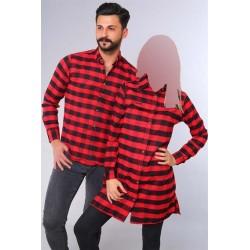 ست پیراهن و تونیک چهارخانه زنانه مردانه
