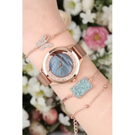 ست ساعت دستبند حصیری زنانه