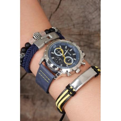 ست ساعت دستبند سرمه ای مردانه