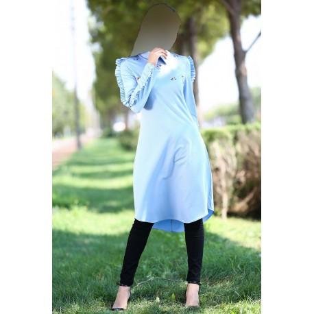 مانتو آبی زنانه