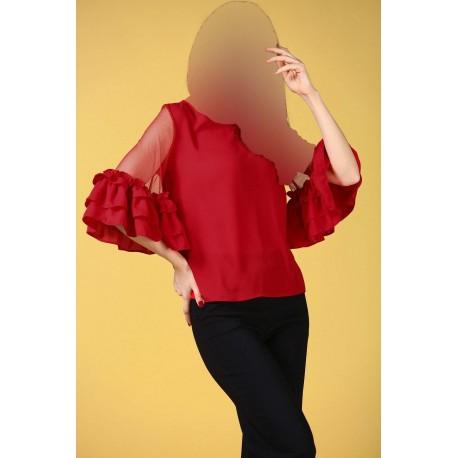 بلوز قرمز زنانه