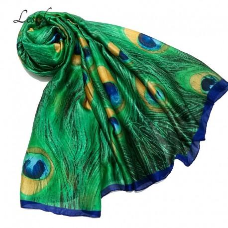 روسری طرح طاوسی زنانه