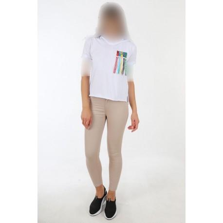 تیشرت سفید زنانه