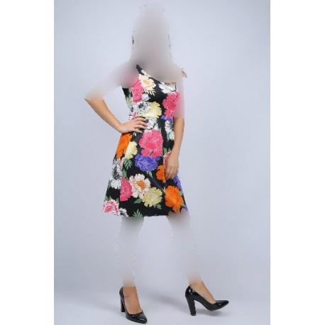 پیراهن مجلسی گلدار زنانه