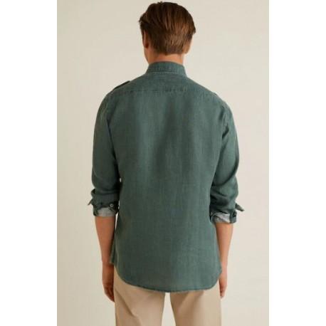 پیراهن کتان مردانه مارک منگو