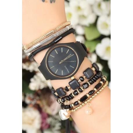 ست ساعت و دستبند اسپرت زنانه