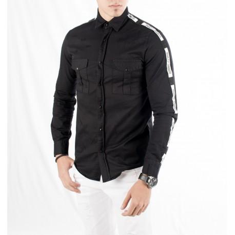 پیراهن مشکی اسپرت مردانه