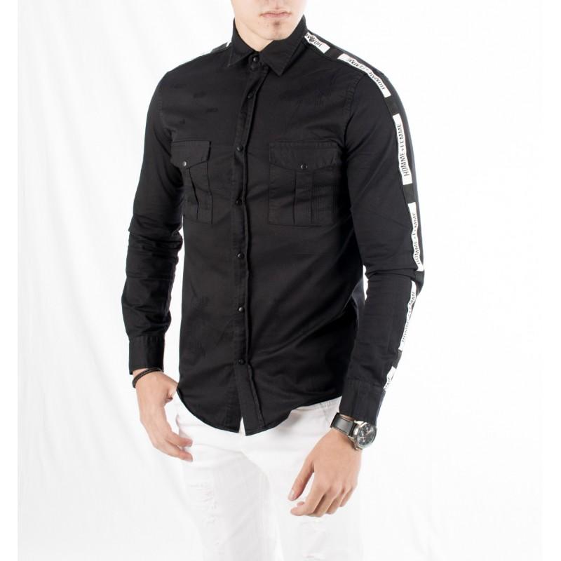 پیراهن مشکی مردانه اسپرت