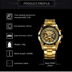 ساعت طلایی مردانه