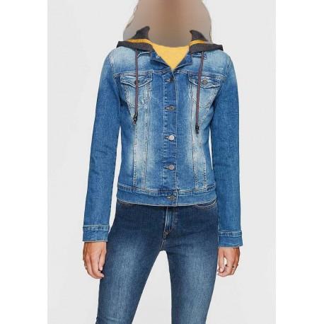 کت جین کلاه دار زنانه