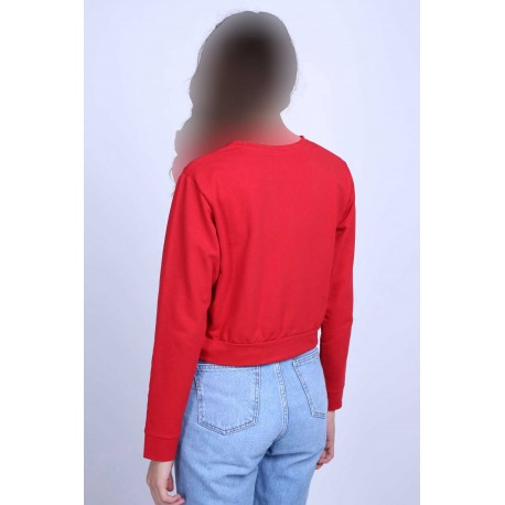 سویشرت قرمز زنانه