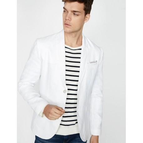 کت سفید مردانه