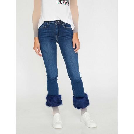 شلوار جین خزدار زنانه