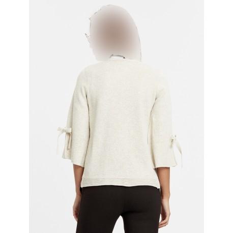 ژاکت کش باف پشمی زنانه