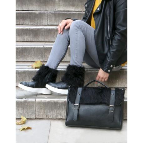 ست کیف وکفش خزدار زنانه