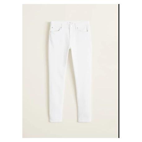 شلوار جین سفید ساده