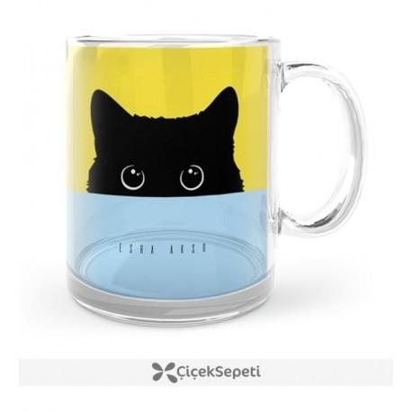 فنجان طرح گربه