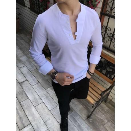 پیراهن یقه لاکرا مردانه