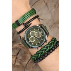 ست دستبند و ساعت مردانه