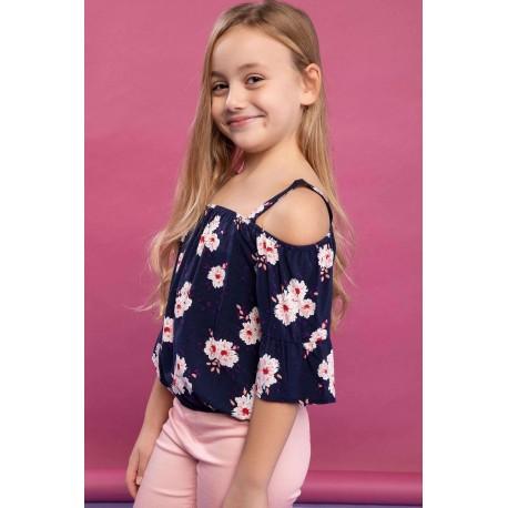 بلوز دخترانه گلدار