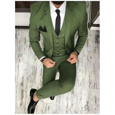 کت وشلوار سبز مردانه