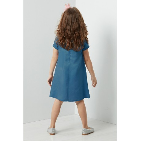 پیراهن دخترانه آبی