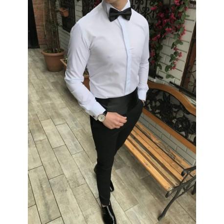 2018 Casual Shirts Men Fashion Long Sleeve Tuxedo Shirt Camisa Masculina Men Shirt Solid Color Shirt Male Brand Clothing 3XL-M