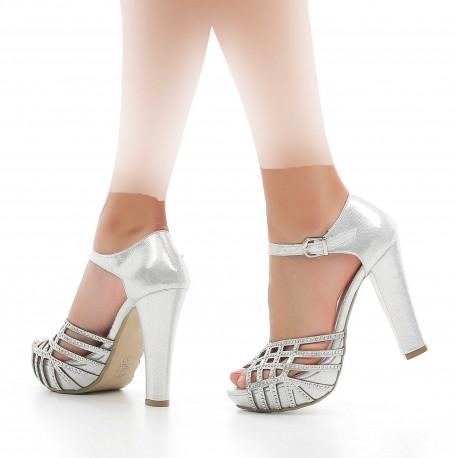 کفش مجلسی نقره ای