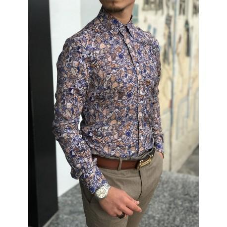 پیراهن گلدار مردانه