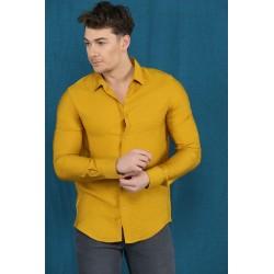 پیراهن مردانه خردلی