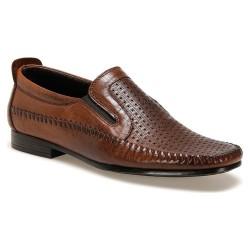 کفش چرم قهوه ای مردانه