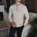 پیراهن بدون یقه مردانه سبک ایتالیایی