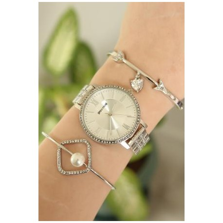 ست ساعت و دستبند زنانه شیک