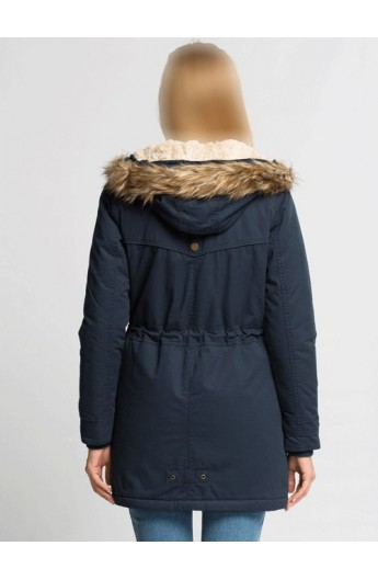 کاپشن کلاه خز دار زنانه