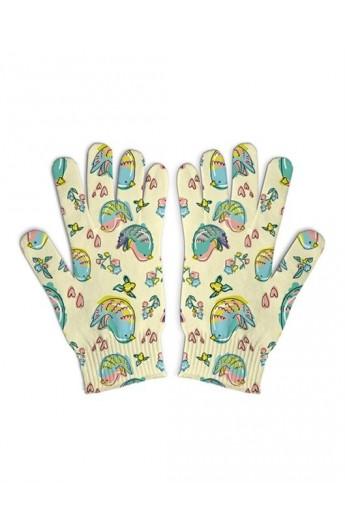 دستکش سفید طرحدار زنانه