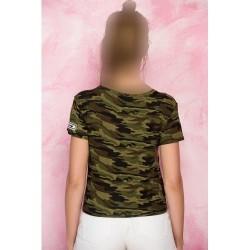 تیشرت ارتشی گره ی زنانه