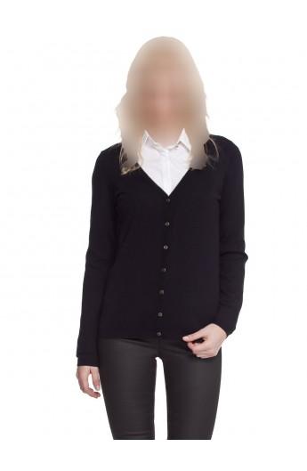 ژاکت بافت جلودکمه زنانه