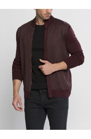 سویشرت بافت زیپ دار مردانه