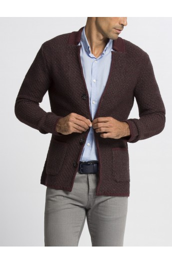 ژاکت بافت جلودکمه مردانه