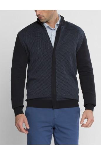 ژاکت بافت زیپ دار مردانه