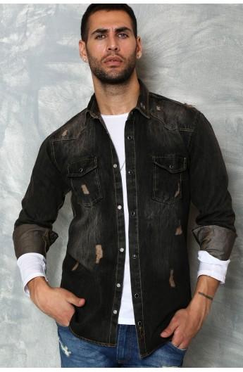 پیراهن جین مدلدار مردانه